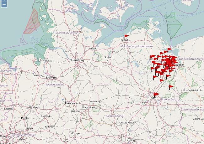 Karte des Uckertauschlandes